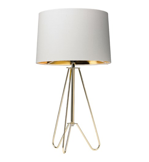 Ziggy Gold Lamp With Cream Shade