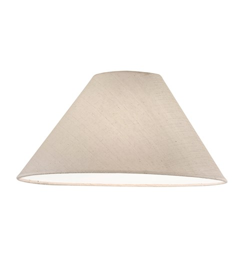 "12"" Natural Cottonette Cone Lampshade"