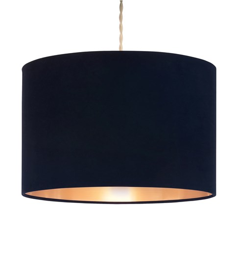 Velvie Pendant Shade Navy | Copper