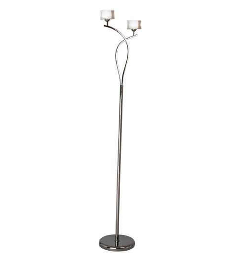Ice 2 Light Floor Lamp - Pewter