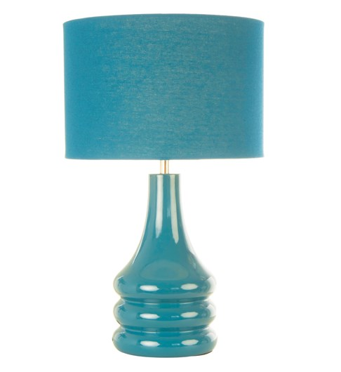 Raj Table Lamp Teal Blue | Bright