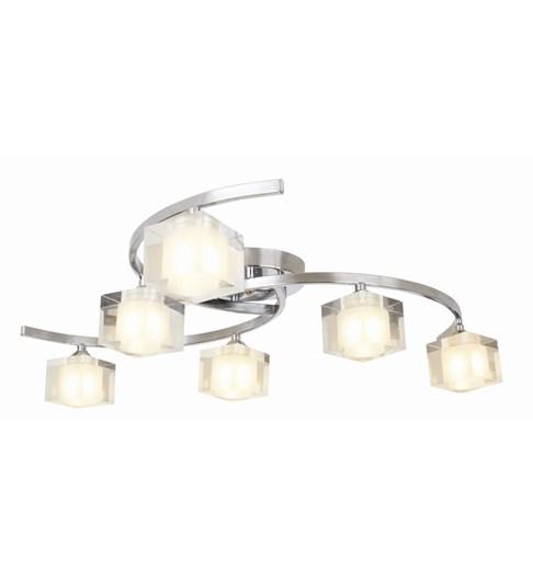 Ice 6 Light Ceiling Fitting - Chrome
