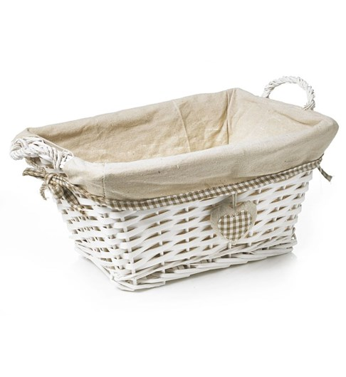 Split Wood Storage Basket