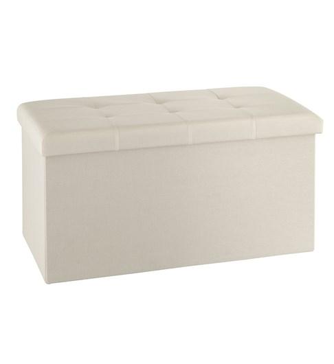 Storage Ottoman - Cream