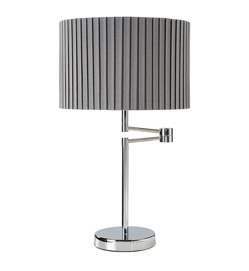 Fenella Table Lamp - Chrome | Grey