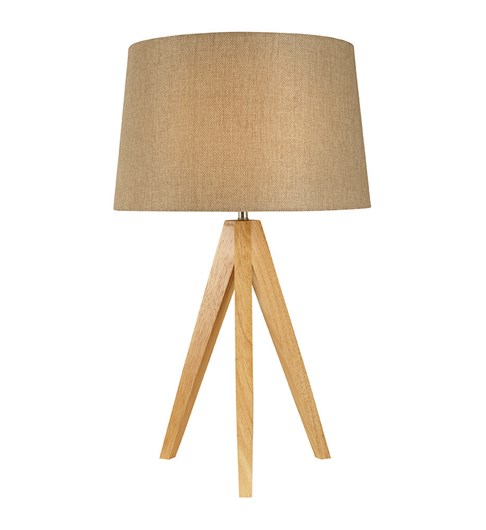 Wooden Tripod Table Lamp - Taupe