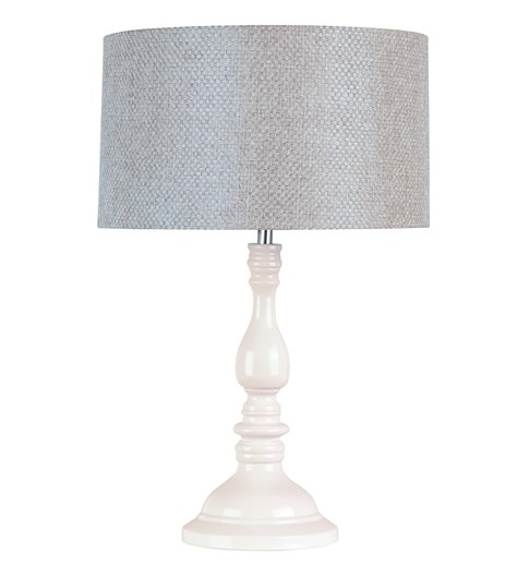 Roma Table Lamp with Grey Shade