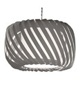 Ribbon Pendant Shade Grey