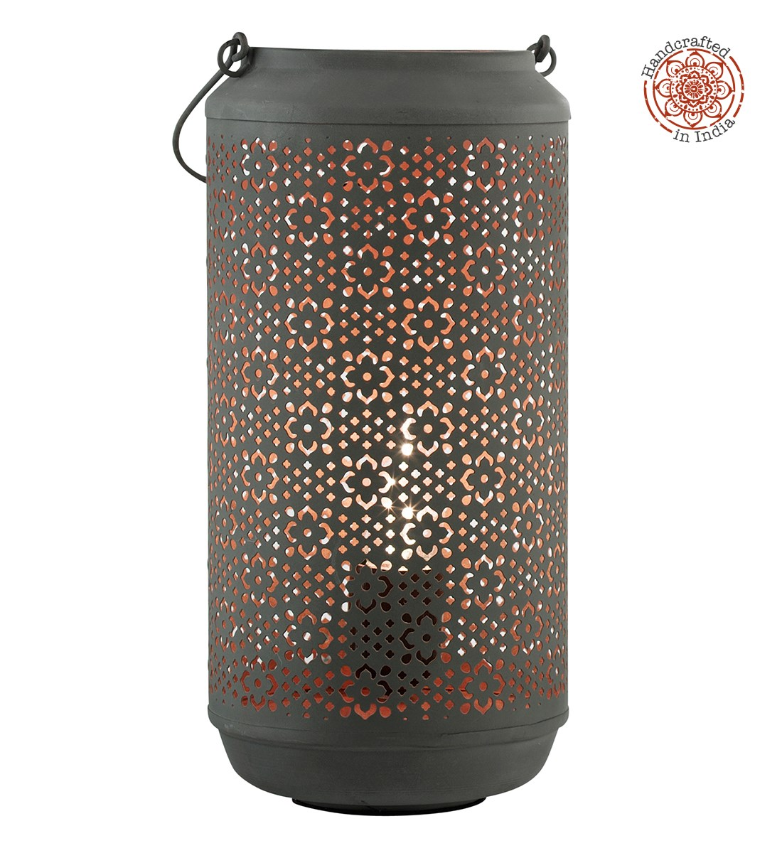 Nori Table Lamp Handcrafted Patterned Lantern