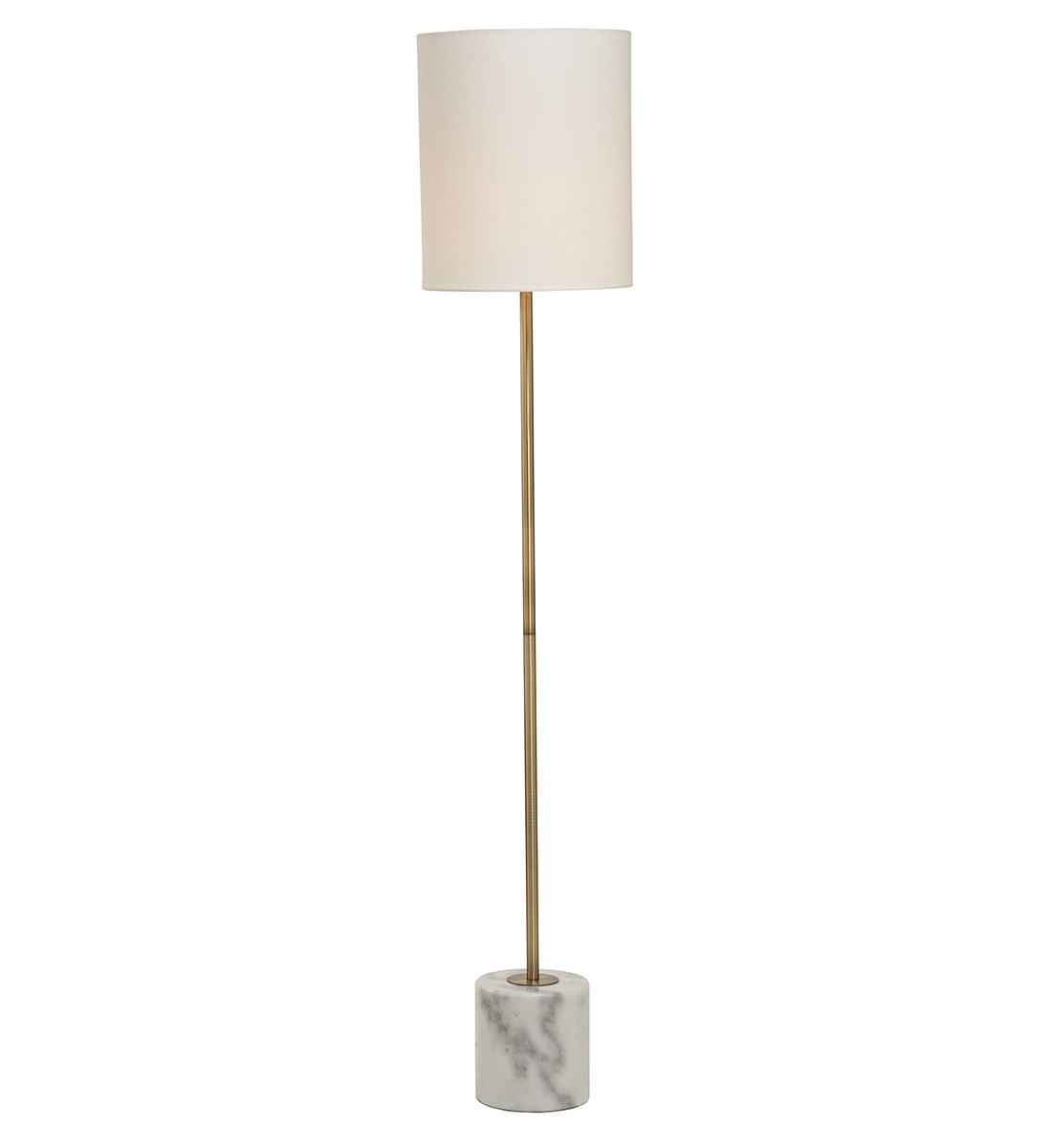 Bianco Floor Lamp Antique Brass Marble Metal Floor Lamp
