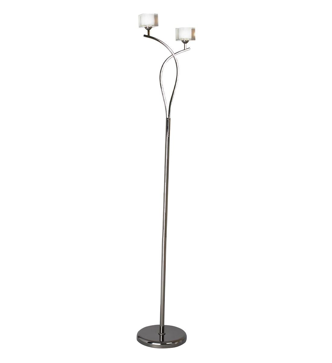 Ice 2 Light Floor Lamp - Pewter | Modern Multi Light Floor ...
