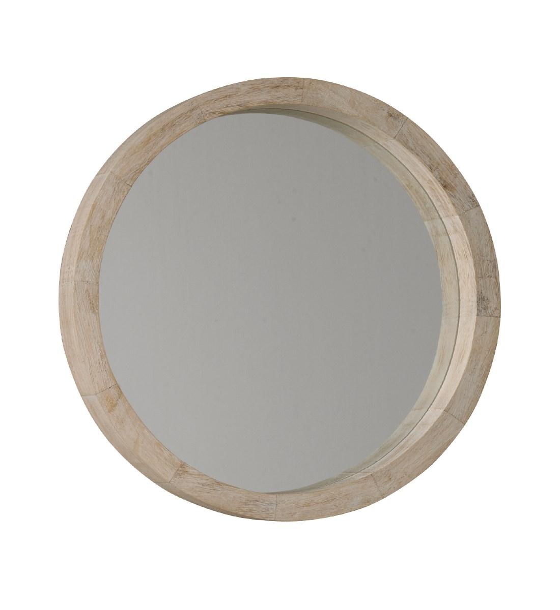 New England Round White Wash Mirror Wooden White Wash And White Painted Frame Round Mirrors