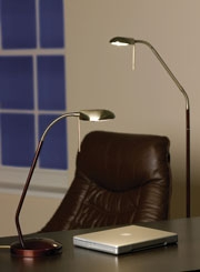 Office or Study lighting such as table lamps, task lamps, Tiffany lamps and floor lamps