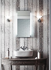 Bathroom lighting such as gallery lights, spotlights, mirror lights and flush lights