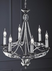 Traditional, modern, crystal and chrome chandeliers