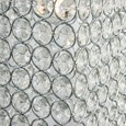 Beaded Crystal & Chrome Non Electric Ceiling Pendant Light Shade - Easy Fit