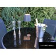 Elipta Battery Powered Outdoor Table Lamp - Rechargeable - LED -Black