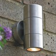 Elipta Compact Up & Down Stainless Steel Outdoor Wall Light Gu10
