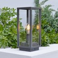 Elipta Kensington Modern Outdoor Post Light - E27 - Graphite Grey