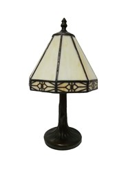 Tiffany Style Portland Cream Cottage Table Lamp