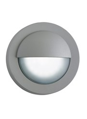 Searchlight Led Outdoor Round Bulkhead Light - Grey - Ip44