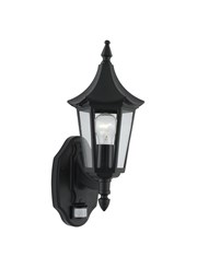 Searchlight Bel Aire Traditional Outdoor Wall Light - Black - Motion Sensor