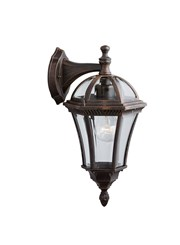 Searchlight Capri - Outdoor Wall Downlight - Rustic Brown - Ip44