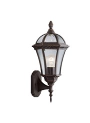 Searchlight Capri - Outdoor Wall Uplight - Rustic Brown - Ip44