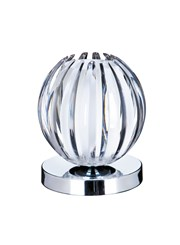Searchlight Touch Table Lamp - Chrome - Frosted Glass & Clear Acrylic