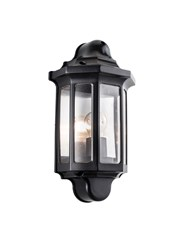 Endon Traditional Half Lantern 60W Outdoor Wall Light - Black - IP44