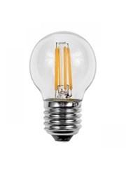 4W ES/Edison Screw Golf Ball Shape Clear Filament LED Light Bulb - Warm White