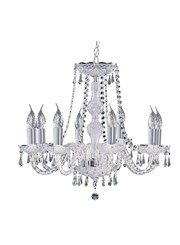 Searchlight Hale  8 Light Chandelier With Crystal Fittings - Chrome