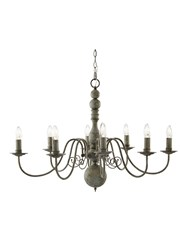 Searchlight Greythorne Vintage Ceiling 8 Light - Textured Grey Finish
