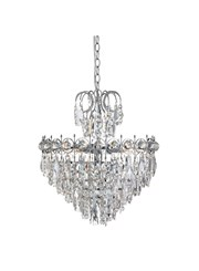 Searchlight Catherine Ceiling Pendant 5 Light - Crystal Drops - Chrome