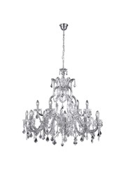 Searchlight Marie Therese Tiered 18 Light Chandelier - Crystal - Chrome