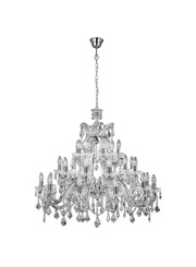 Searchlight Marie Therese Tiered 30 Light Chandelier - Crystal - Chrome