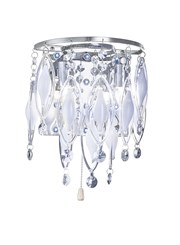 Searchlight Spindle - Led Double Wall Light - Chrome - Clear/White Glass