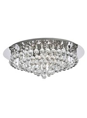 Searchlight Hanna 8 Light Round Fitting - Chrome - Round Crystals