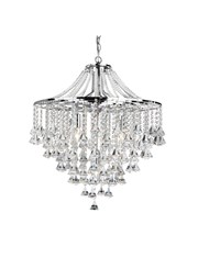 Searchlight Dorchester 5 Light Chandelier - Chrome - Diamond Crystal Drops