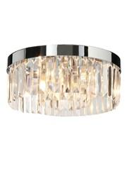Endon Crystal Flush Bathroom Ceiling Light - Chrome - IP44