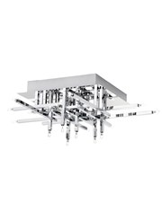 Searchlight Lattice Modern 16 Light - Flush Ceiling Fitting - Chrome