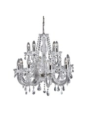 Searchlight Marie Therese  12 Light Chandelier - Crystal - Chrome