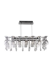 Searchlight Vino Rectangular 10 Wine Glass Ceiling Light - Chrome - Crystal Deco