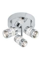 Searchlight Bubbles Effect Led - 3 Light Spot Ceiling - Chrome & Acrylic Shade