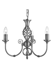 Searchlight Zanzibar Ceiling 3 Light - Satin Silver