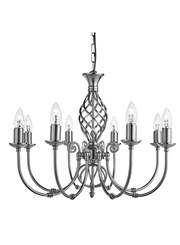 Searchlight Zanzibar Ceiling 8 Light - Satin Silver