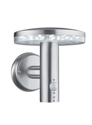 Searchlight Led Outdoor Wall Light - Stainless Steel - Mushrom Cap - Pir