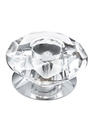 Searchlight Recessed - Downlighter - 1 Light Chrome/Clear Diamond Glass
