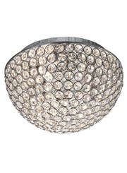 Searchlight Chantilly Ceiling Light - Chrome - Crystal