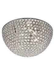 Searchlight Chantilly Ceiling 3 Light - Chrome - Crystal